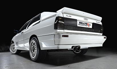 Milltek Classic cat-back exhaust fitted to our own UR Quattro 10V