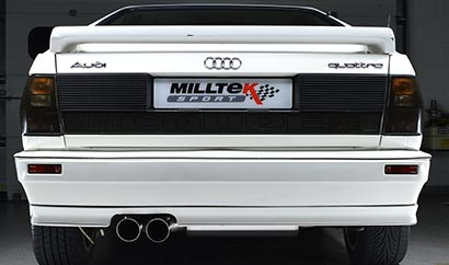 Rear shot of the fantastic Milltek Classic exhaust system