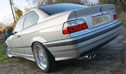 Milltek Classic OEM-style tips as fitted to the 328i