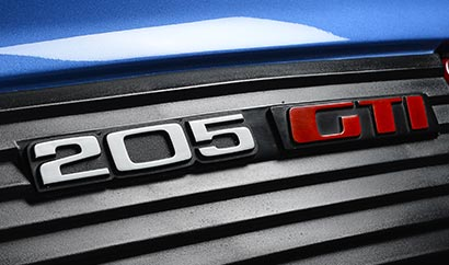 205 GTi badge: because...why not!