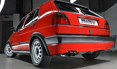 Milltek Classic OEM-style tips as fitted to our own VW Golf Mk2 GTi 8V