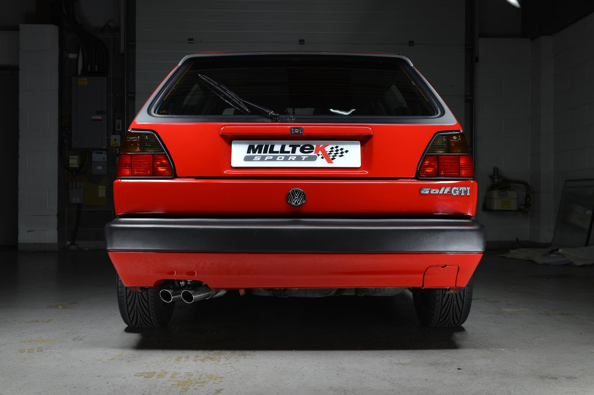volkswagen golf gti mk2 8v performance exhaust system by milltek classic. Black Bedroom Furniture Sets. Home Design Ideas